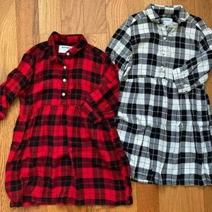 Old Navy flannel shirtdresses - lot of 2